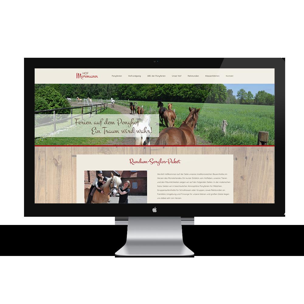 Calcanto Werbeagentur Referenz Ponyhof Mormann Webseite