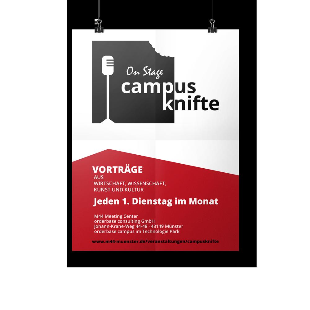 Calcanto Werbeagentur Referenz campus knifte Plakat Poster Event