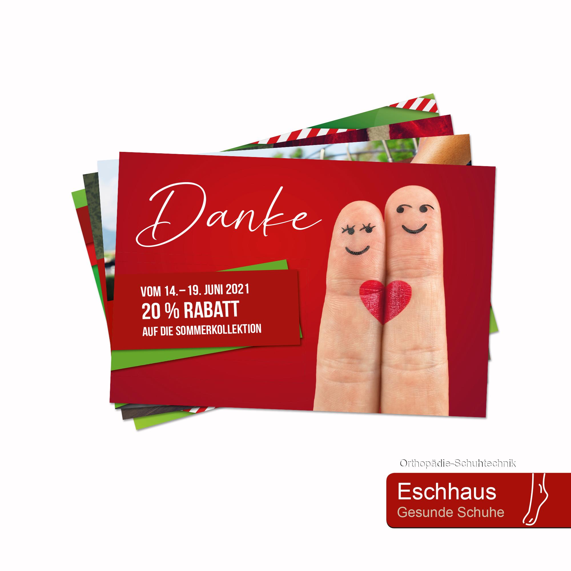 Calcanto Werbeagentur Referenz Eschhaus Postkarten