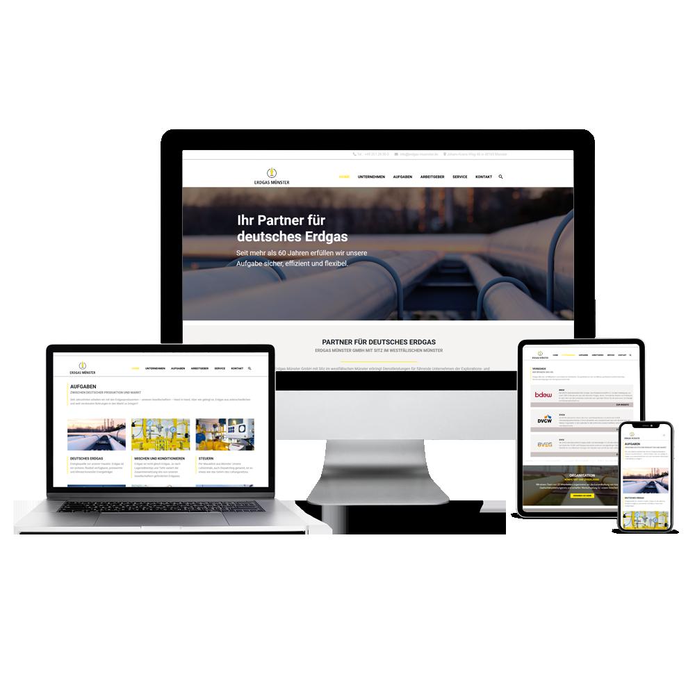 Calcanto Werbeagentur Referenzen Erdgas Webseite