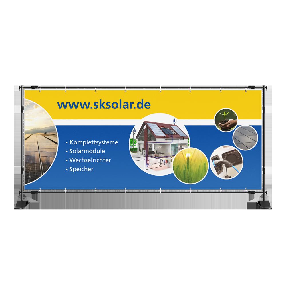 Calcanto Werbeagentur Referenzen SK Solar Banner